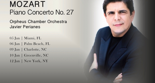 Javier Perianes tours the US with Orpheus Chamber Orchestra